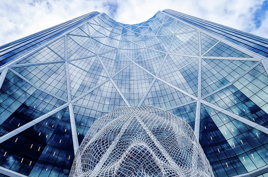 Calgary Photograph - The Bow Building by Rod Sterling