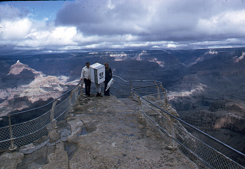 The Box Visits The Grand Canyon Photograph by Don Peterson
