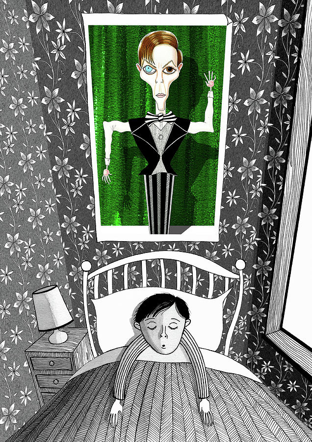 Boy Drawing - The Boy Who Dreamed Of David Bowie  by Andrew Hitchen