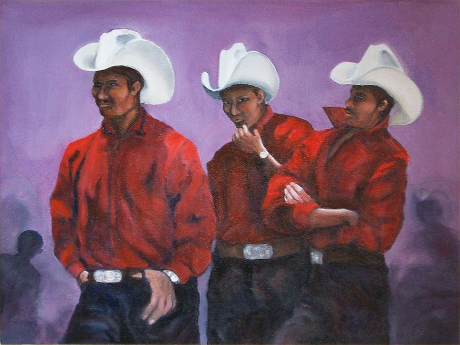 Mexican Painting - The Boys In The Band In Zinacantan by Irene Corey