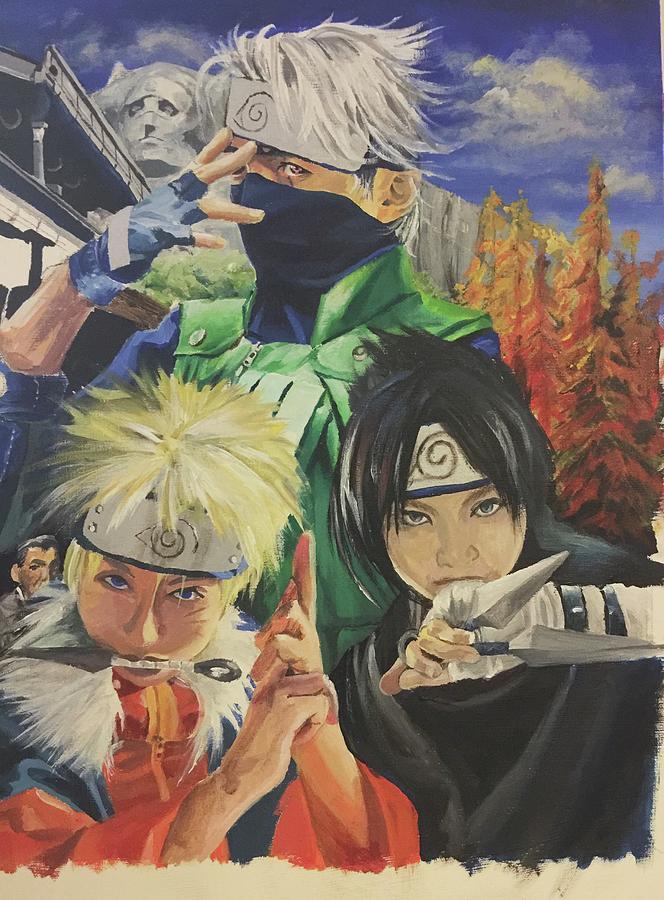 Naruto Painting - Kakashis Rivals Wip by Baroquen Krafts