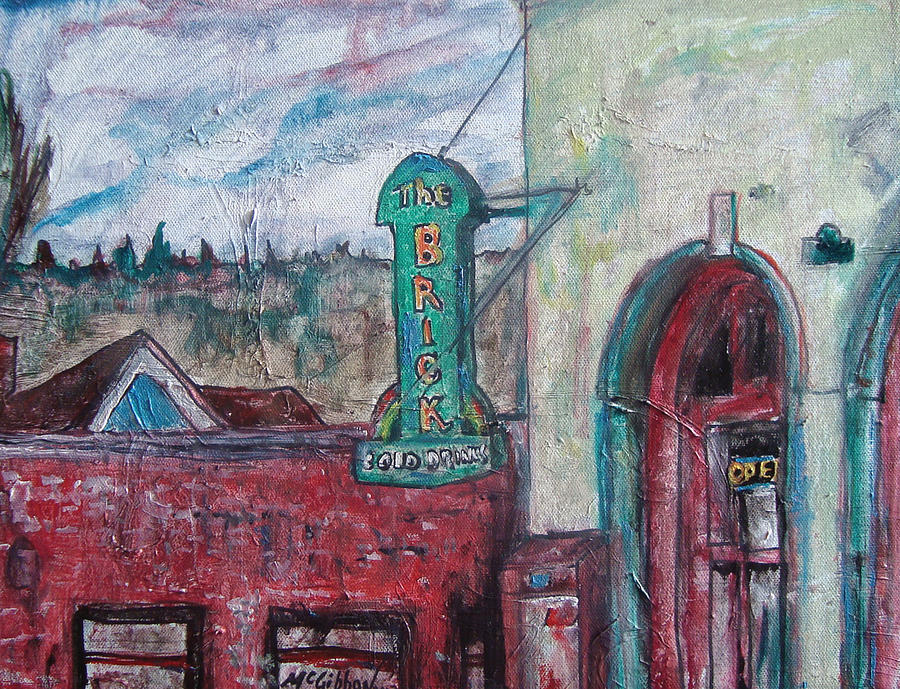 Wa Painting - The Brick   by Dan McGibbon