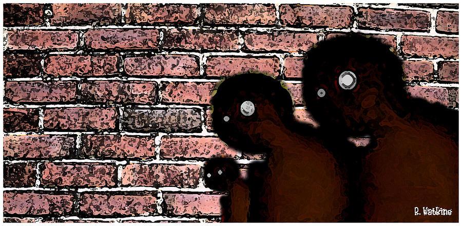 Hip Hop Digital Art - The Bricks by Richard N Watkins