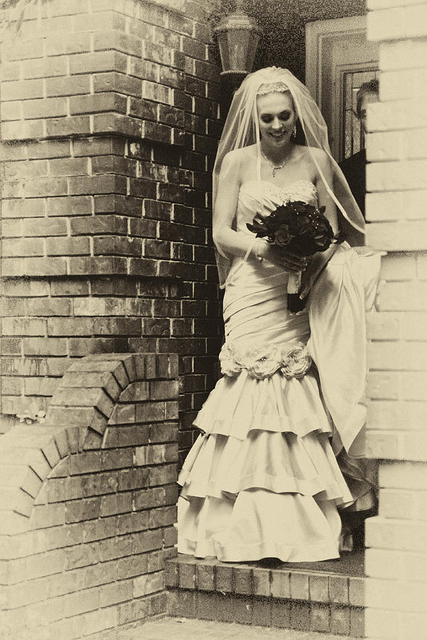 Vintage Photograph - The Bride 2 Example by David Patterson