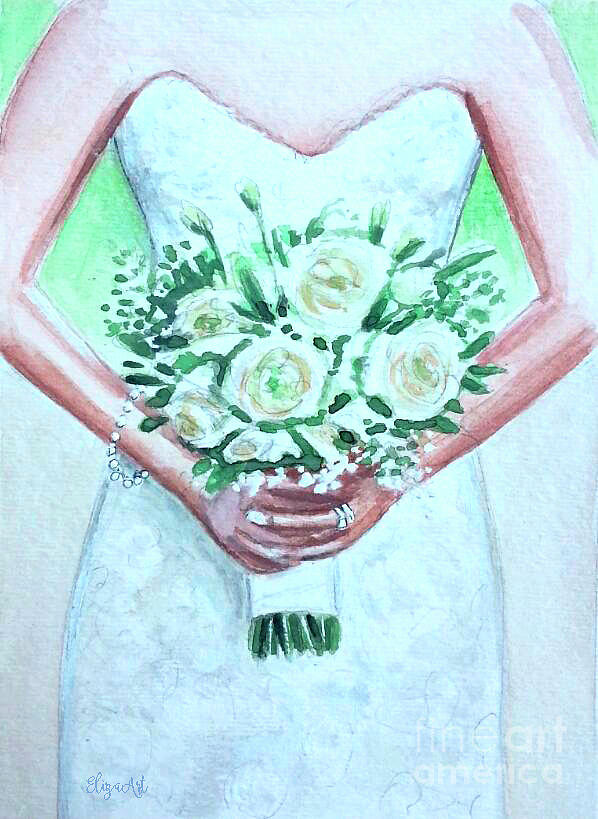 Bride Painting - The Bride by Elizabeth Robinette Tyndall