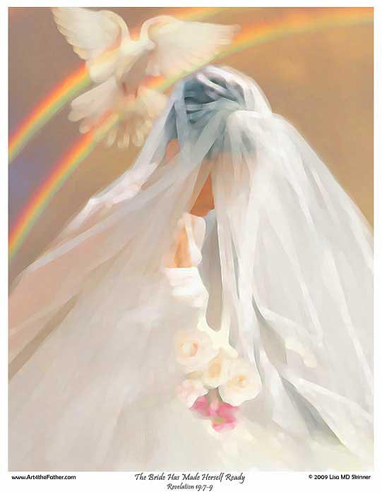 The Bride Of Christ Digital Art - The Bride Has Made Herself Ready by Lisa Marie Dole Skinner