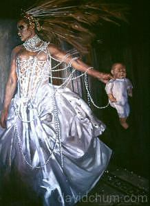The Bride Is Air Below The Waist Painting by David Chum