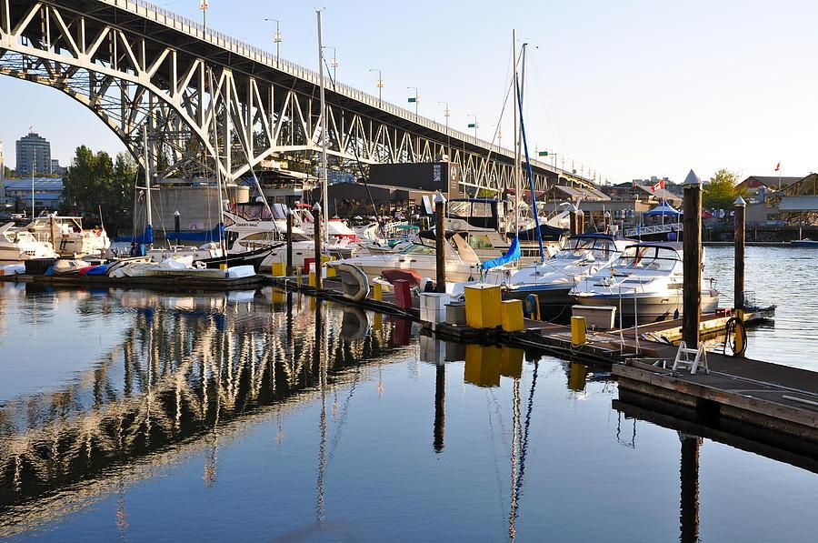 Bridge Photograph - The Bridge and Marina by Caroline Reyes-Loughrey