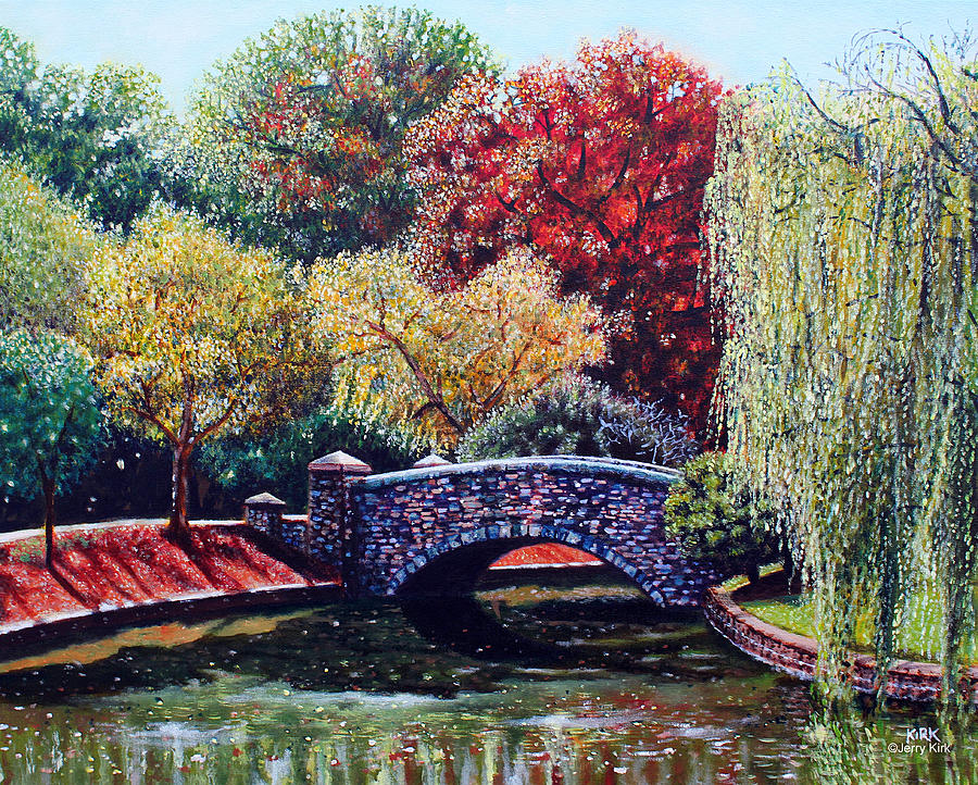 Painting Painting - The Bridge At Freedom Park by Jerry Kirk