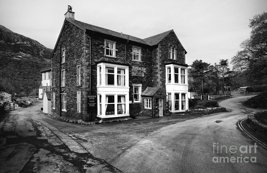 Cumbria Photograph - The Bridge Hotel, Buttermere by Smart Aviation