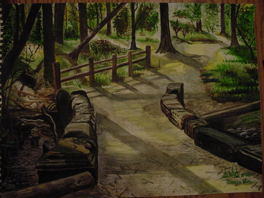 Outdoor Painting - The Bridge Joaquin Miller by Jorge Luis  Iniguez