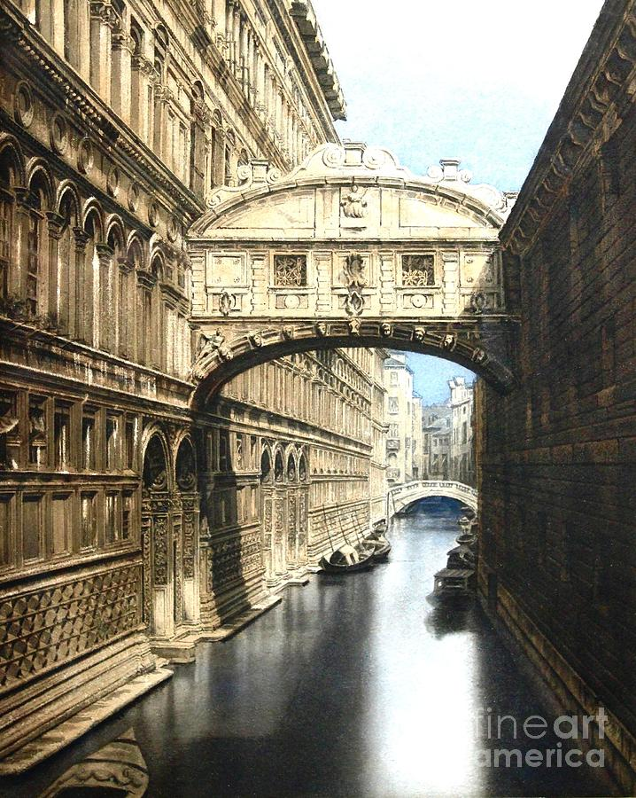 The Bridge Of Sighs  Venice Painting