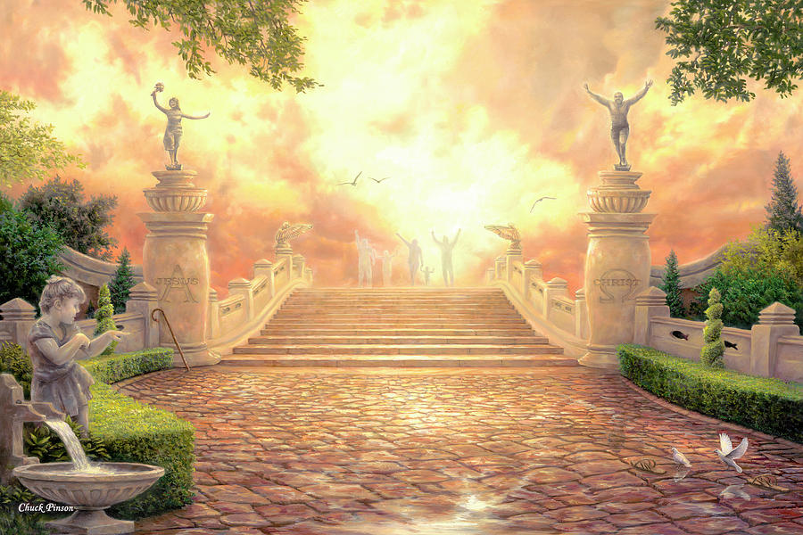 Heaven Painting - The Bridge Of Triumph by Chuck Pinson