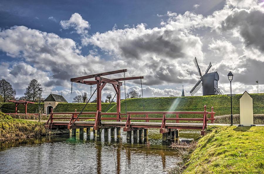 Bridge Photograph - The Bridge to Bourtange by Frans Blok
