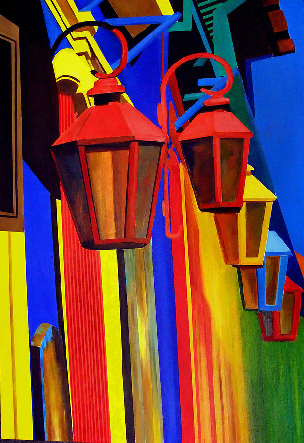 The Bright Lamps Of La Boca Painting by JoeRay Kelley