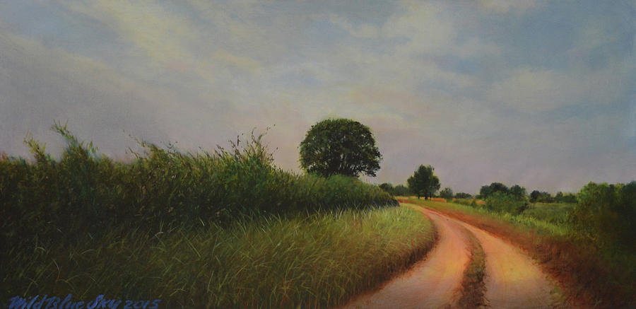 Original Painting - The Brighter Road Ahead by Blue Sky
