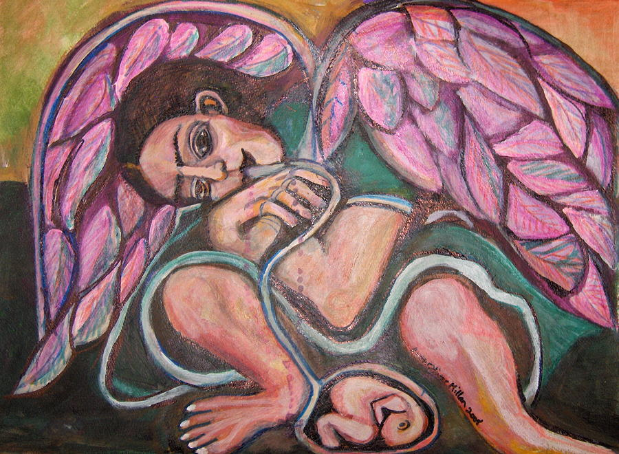 Angel Painting - The Brith Of Life Angel by Ruth Olivar Millan