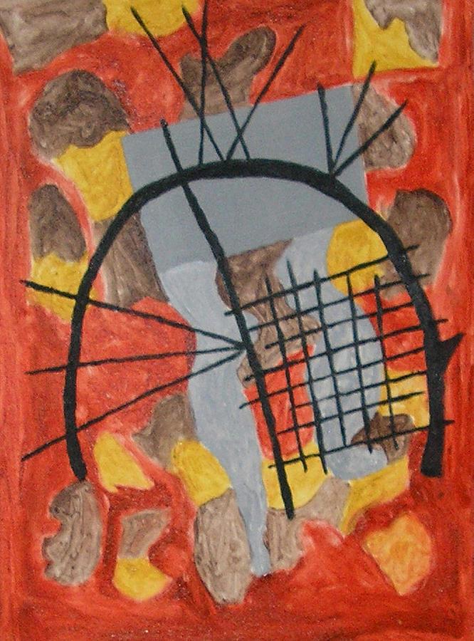 Contemporary Painting - The Broken Circle by Harris Gulko