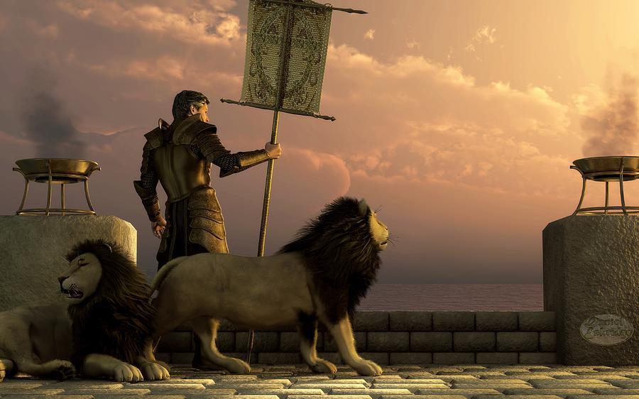 Knight Digital Art - The Bronze Knight Of The Isle Of Lions by Daniel Eskridge