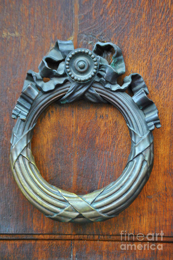 Door Photograph - The Bronze Knocker by Jost Houk