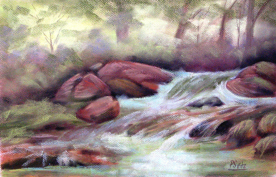 Patricia Seitz Painting - The Brook by Patricia Seitz