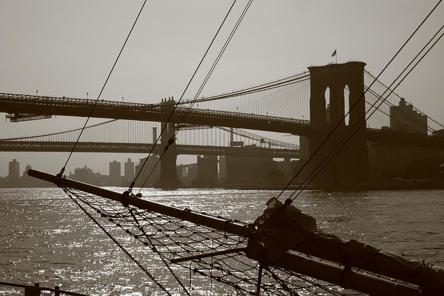 Brooklyn Bridge Photograph - The Brooklyn And Manhattan Bridges by Christopher Kirby