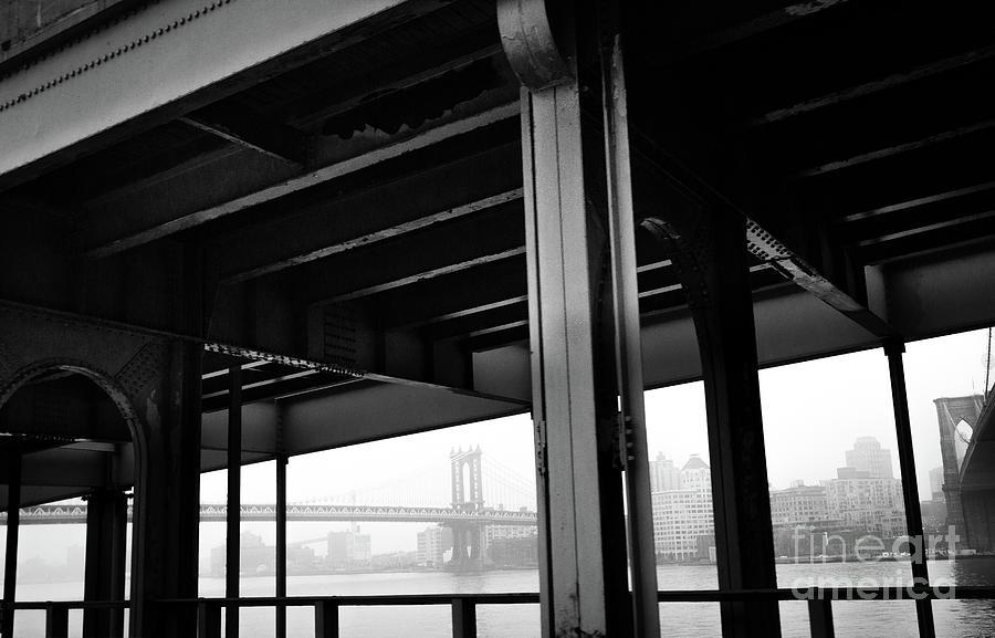 Brooklyn Photograph - The Brooklyng Bridge And Manhattan Bridge From Fdr Drive by PorqueNo Studios