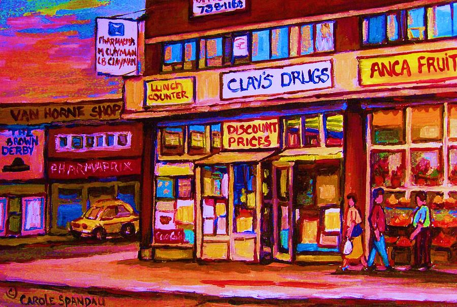 Montreal Painting - The Brown Derby by Carole Spandau