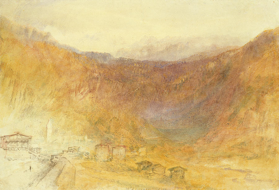 The Painting - The Brunig Pass From Meiringen by Joseph Mallord William Turner
