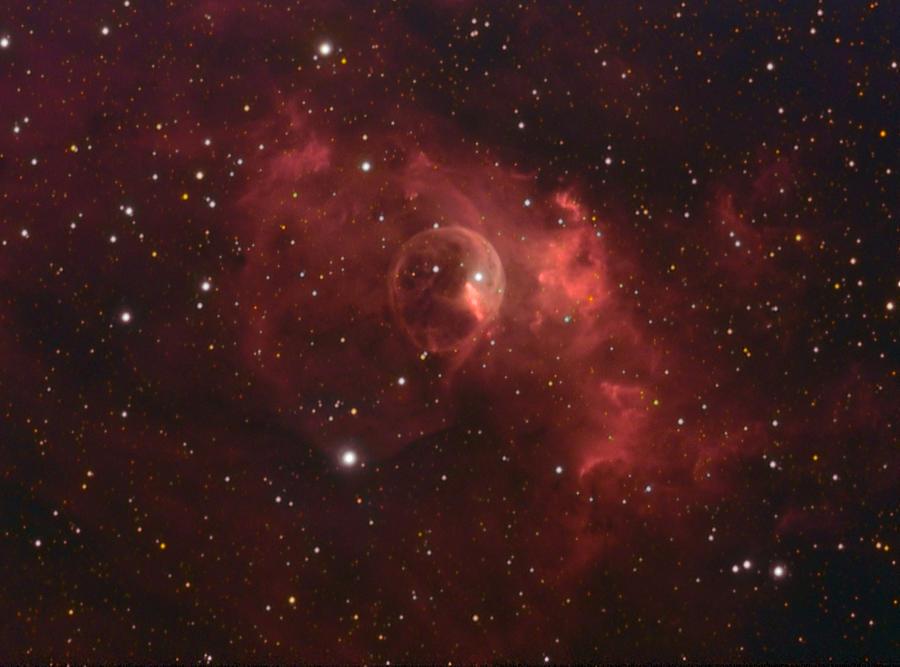 Stars Photograph - The Bubble Nebula by Charles Warren