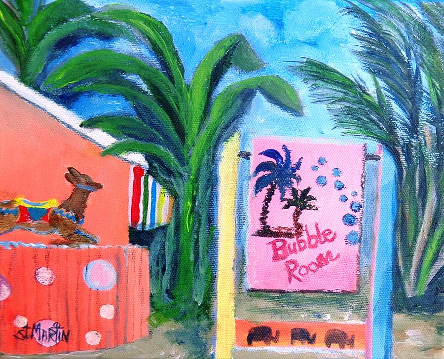 Island Life Painting - The Bubble Room Captiva Island Florida by Annie St Martin