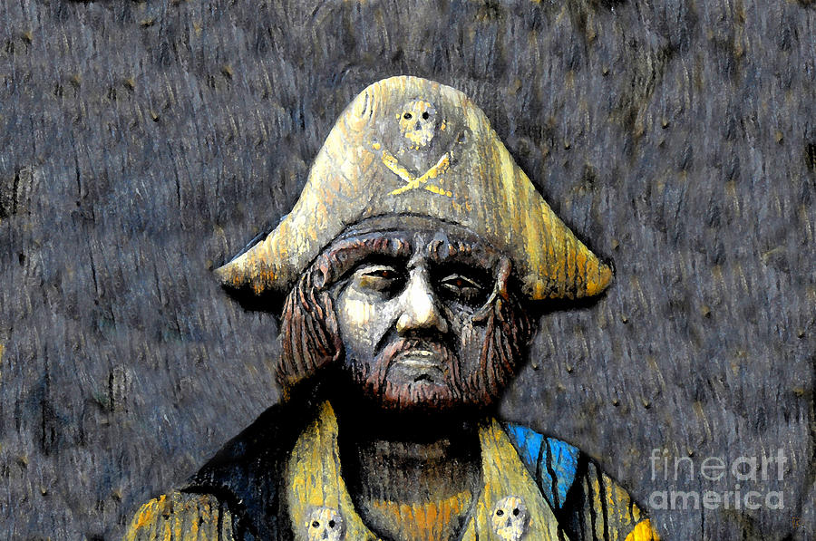 Buccaneer Painting - The Buccaneer by David Lee Thompson