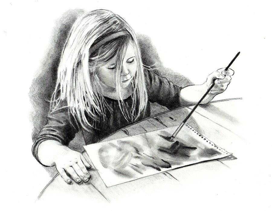 The budding artist drawing by joyce geleynse for Artiste dessin