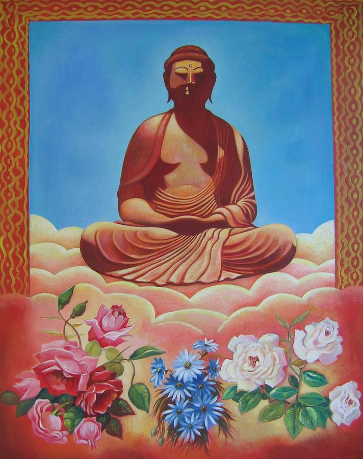 People Painting - The Budha by Hiske Tas Bain