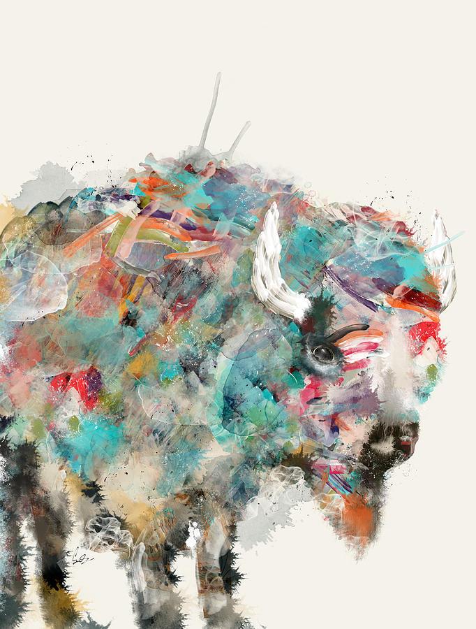 Buffalos Painting - The Buffalo by Bri Buckley
