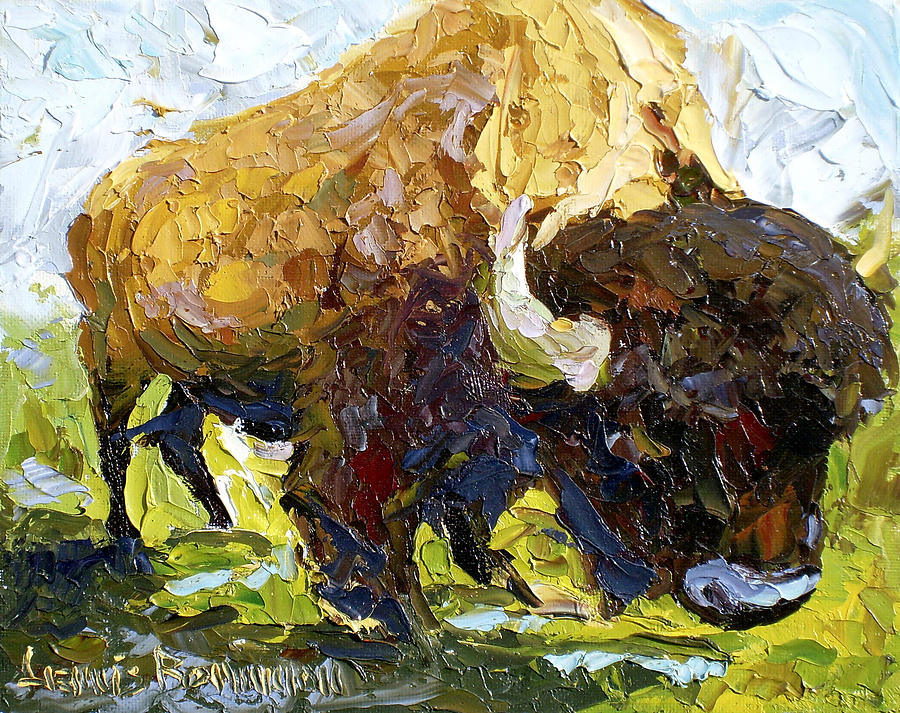Buffalo Painting - The Buffalo by Lewis Bowman
