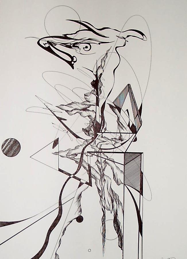 Abstract Drawing - The Bull Market by Charles Durbin