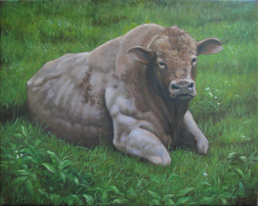 Landscape Painting - The Bull by Stephen Howell