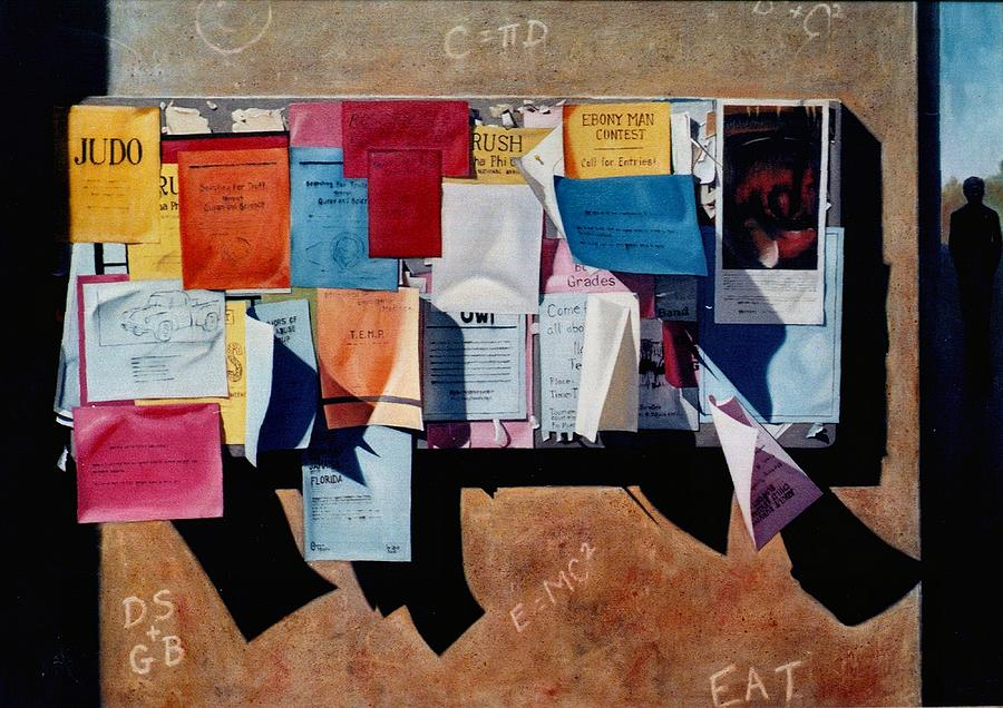 Bulletin Painting - The Bulletin Board by Doug Strickland