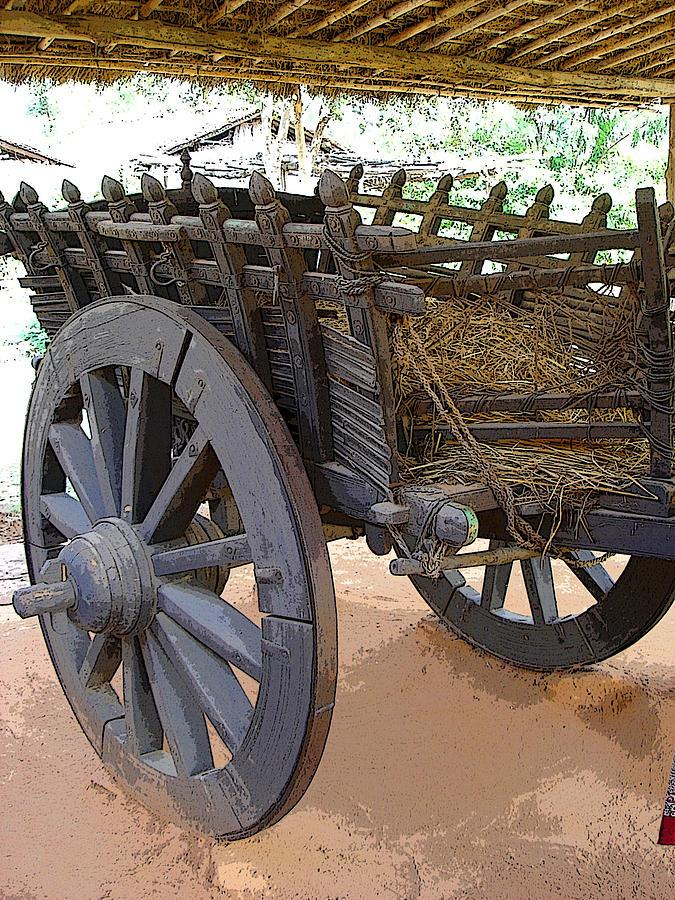 Cart Photograph - The Bullock Cart by Padamvir Singh
