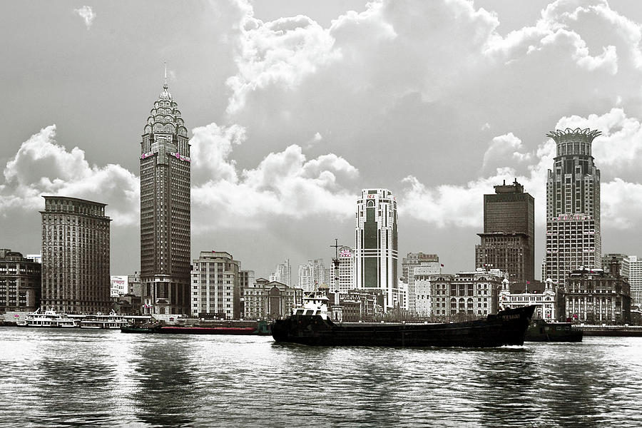 The Bund Photograph - The Bund - Old Shanghai China - A Museum Of International Architecture by Christine Till