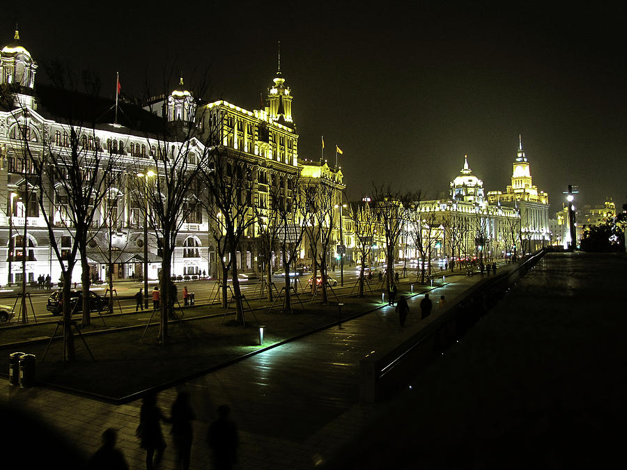 Architecture Photograph - The Bund - Shanghais Famous Waterfront by Christine Till