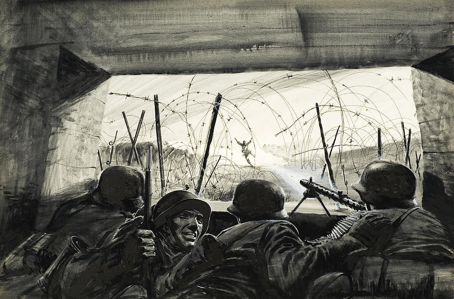 War Painting - The Bunker  by Graham Coton