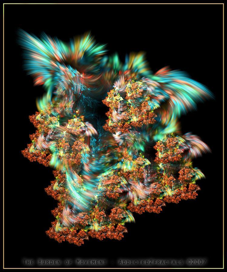 Movement Digital Art - The Burden Of Movement by Lucas Simmons