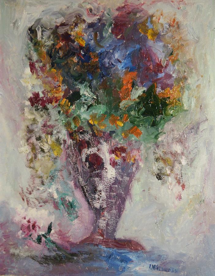 Still Life Painting - The Burgundy Vase by Edward Wolverton