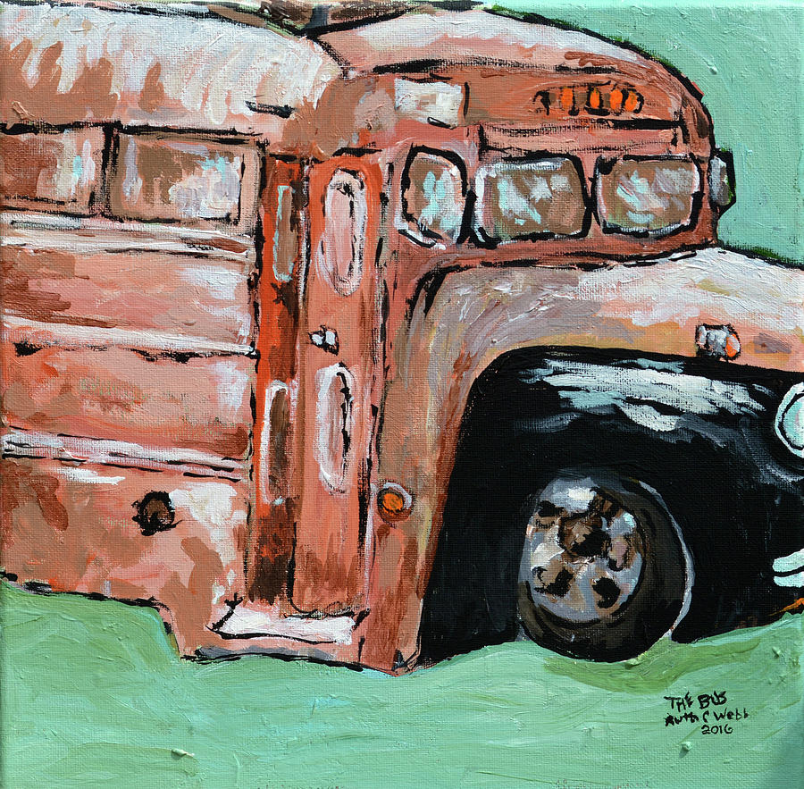 Painting Painting - The Bus by Ruth Webb