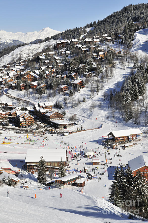 Meribel Photograph - The Busy Chaudanne In Meribel The Heart Of Meribel In The Three Valleys Resort France by Andy Smy
