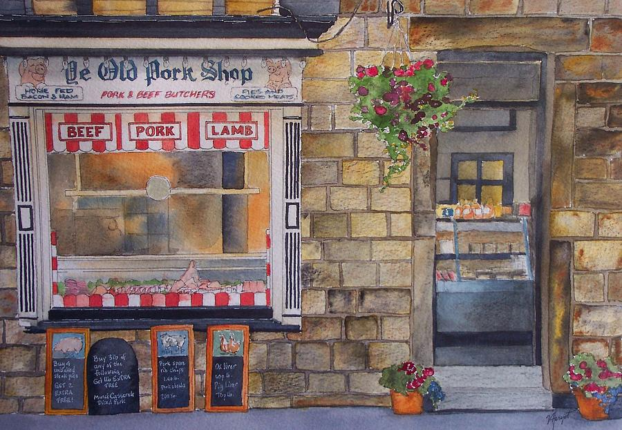 Butcher Painting - The Butcher Shop by Victoria Heryet
