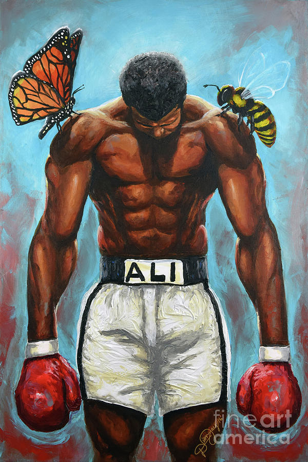 Ali Painting - The Butterflies And The Bees by The Art of DionJaY