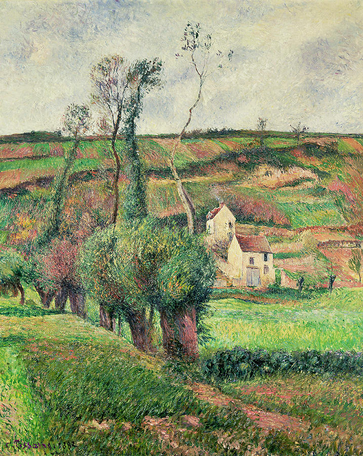The Painting - The Cabbage Slopes by Camille Pissarro